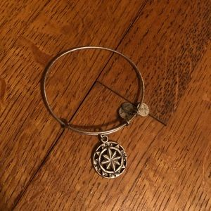 Alex and Ani silver compass bracelet